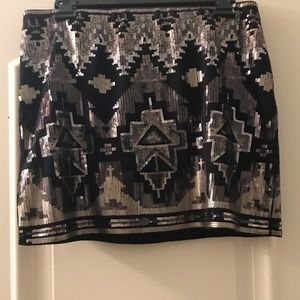 Express Skirt Sequin Gold